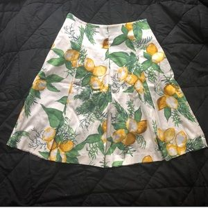Talbots Lemon A-line Midi Skirt